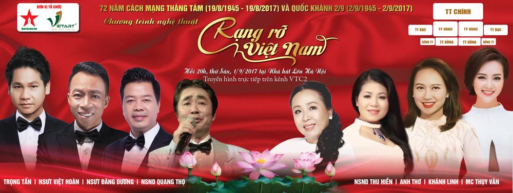 Rạng Rỡ Việt Nam – Tưng bừng kỷ niệm 72 năm Quốc Khánh 2/9
